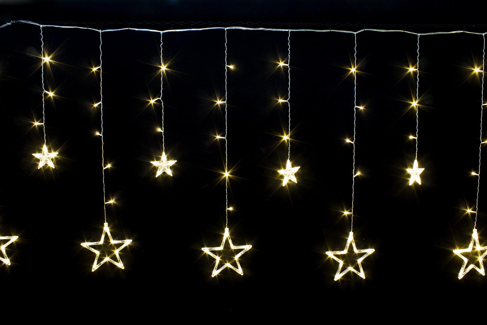 Обзор Новогодней LED Гирлянды Звездопад
